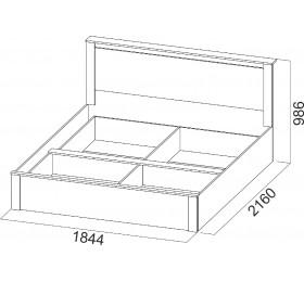 """Кровать 1.8м """"Гамма 20"""""""