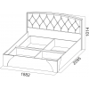 Кровать 1,8 (стразы)