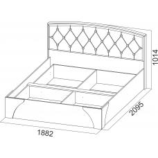 """Кровать 1,8 """"Лагуна 7"""" (стразы)"""